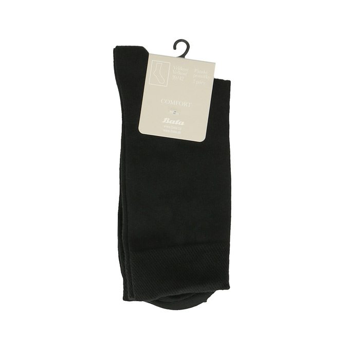 Men's socks - 2 pairs bata, black , 919-6363 - 13
