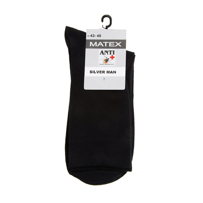 Men´s Matex socks with anti-bacterial protection. matex, black , 919-6313 - 13
