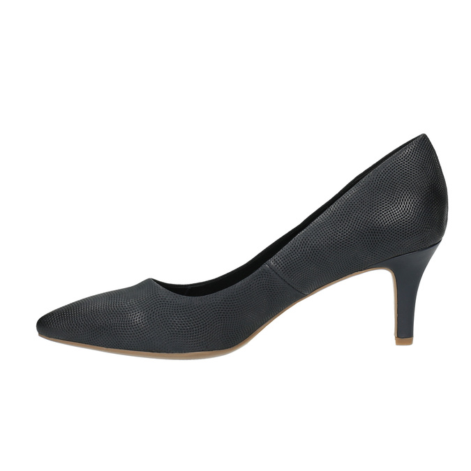Mid-heel pumps bata, black , 626-9601 - 26