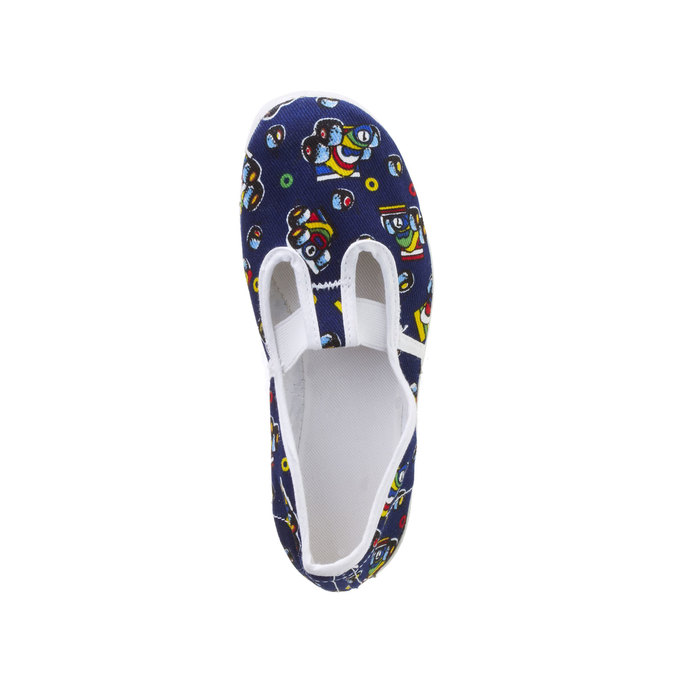 Kids' gym shoes with pictures bata, blue , 279-9102 - 19