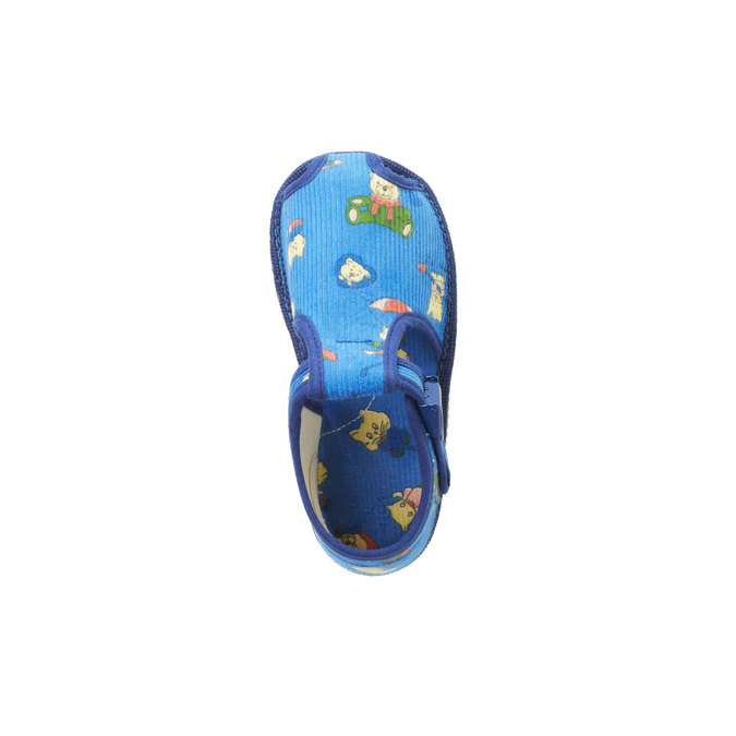 Children's home slippers in an ankle cut bata, blue , 179-9210 - 19