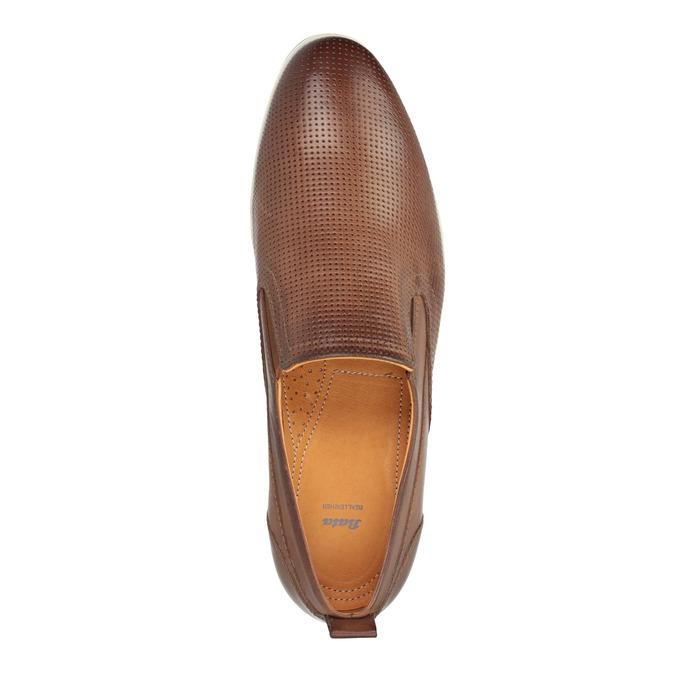 Men´s leather Slip-ons bata, brown , 814-4148 - 19