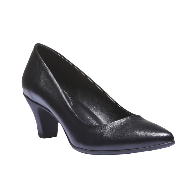 Leather Pumps flexible, black , 624-6221 - 13