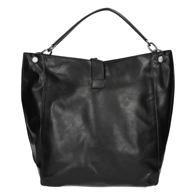 Black Hobo-style handbag bata, black , 961-6808 - 26