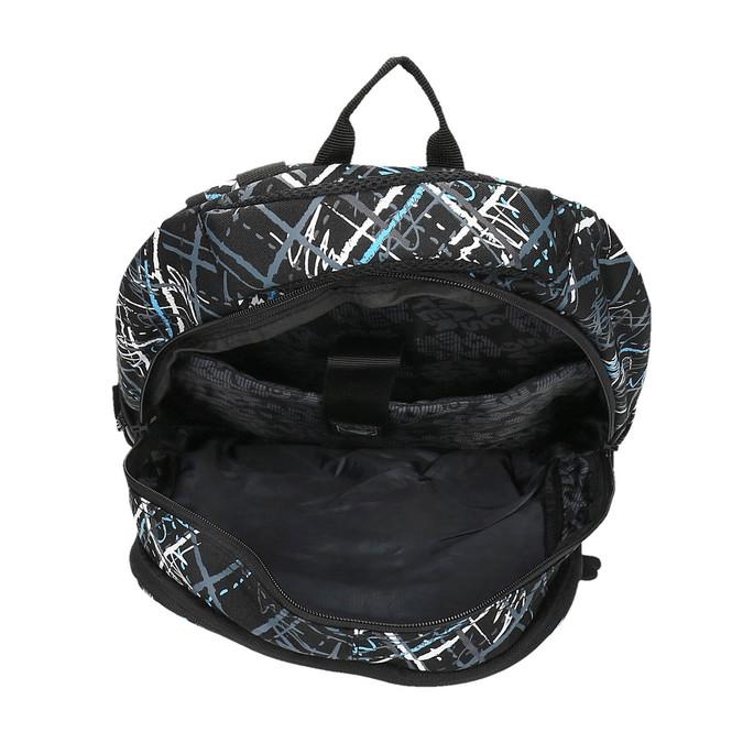 School backpack with printed pattern bagmaster, black , 969-6616 - 15