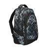 School backpack with printed pattern bagmaster, black , 969-6616 - 13