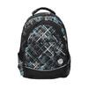 School backpack with printed pattern bagmaster, black , 969-6616 - 19