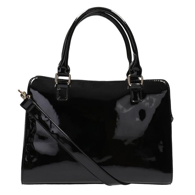 Black handbag with gold detailng bata, black , 961-6610 - 26