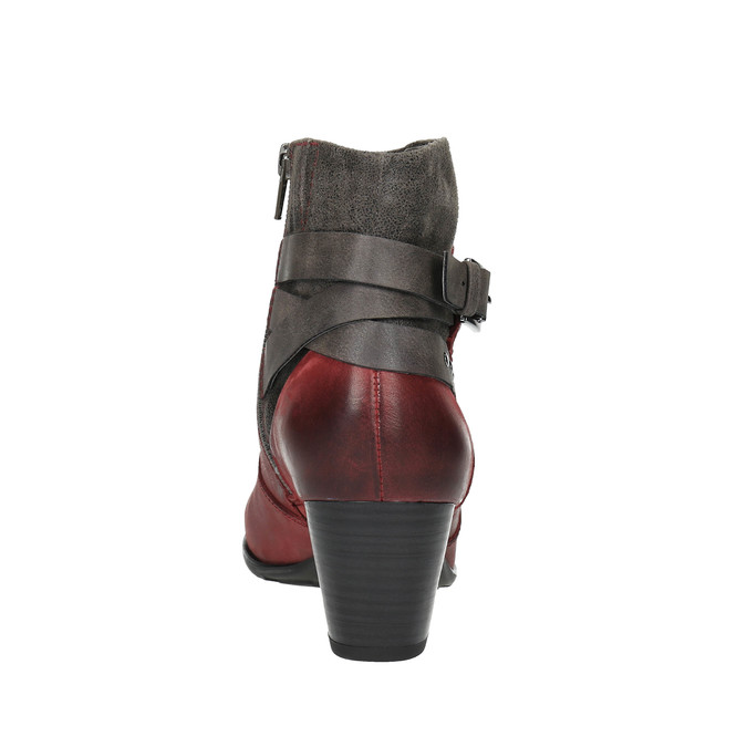 Ladies´ ankle-cut shoes with warm padding bata, red , 696-5617 - 17