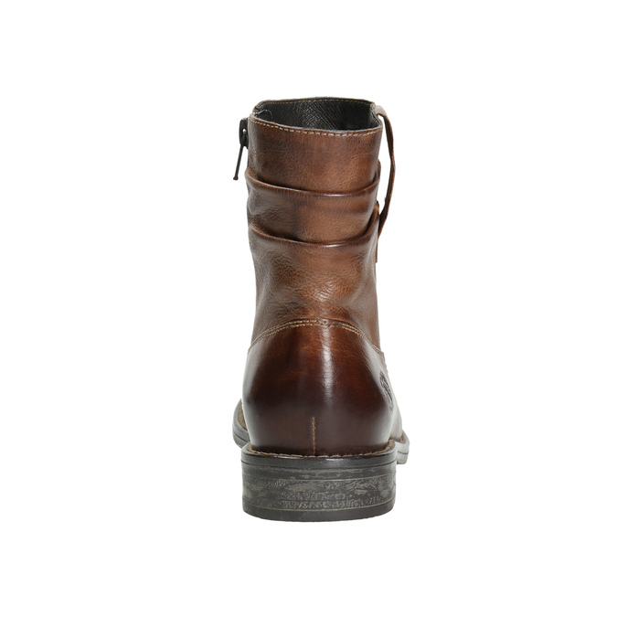 Western-style leather ankle boots bata, brown , 594-4611 - 17