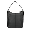 Hobo-style black leather handbag, black , 964-6254 - 19