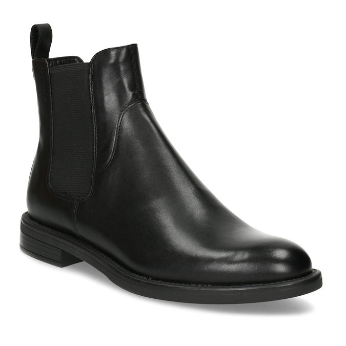 Black leather Chelsea Boots vagabond, black , 514-6007 - 13