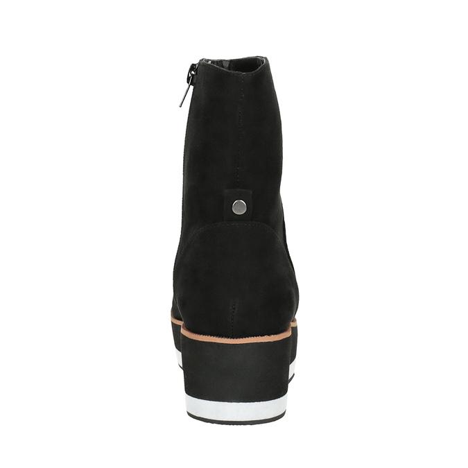 Flatform ankle boots bata, black , 699-6601 - 17
