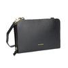 Black leather crossbody handbag royal-republiq, black , 964-6017 - 13