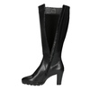Ladies' leather heeled high boots hogl, black , 794-6009 - 19