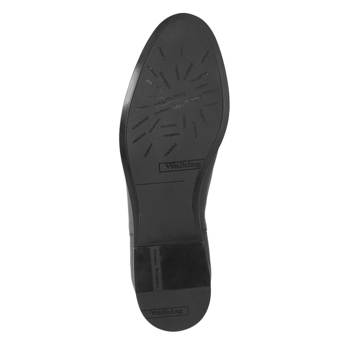 Ladies' leather knee-high boots bata, black , 594-6605 - 26