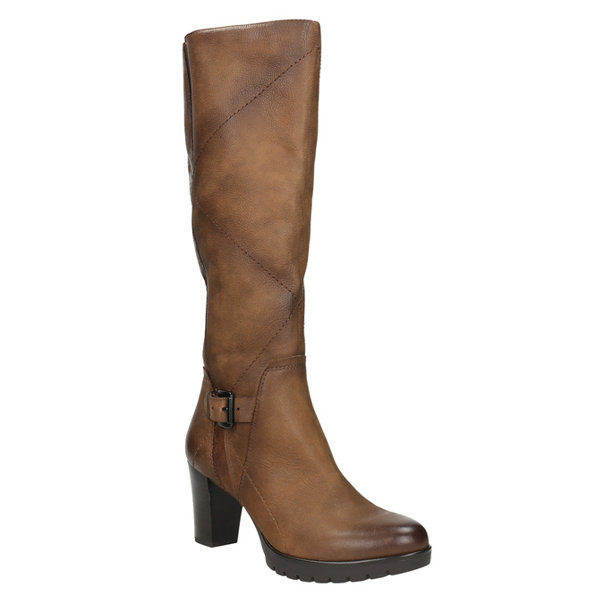 Women's high boots bata, brown , 796-4601 - 13