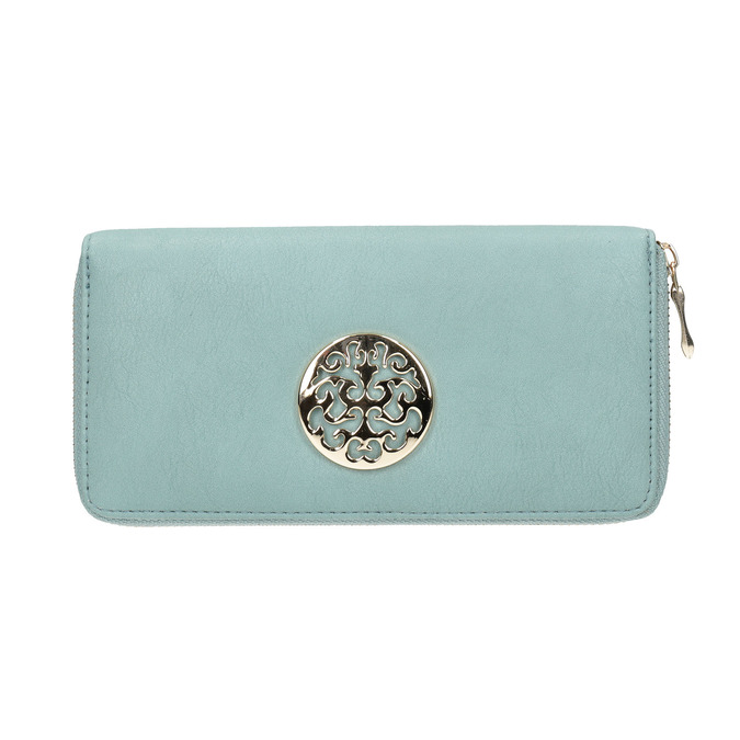 Purse with metal features bata, turquoise, 941-9150 - 26