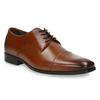 Men´s leather shoes in the Derby style bata, brown , 826-4736 - 13
