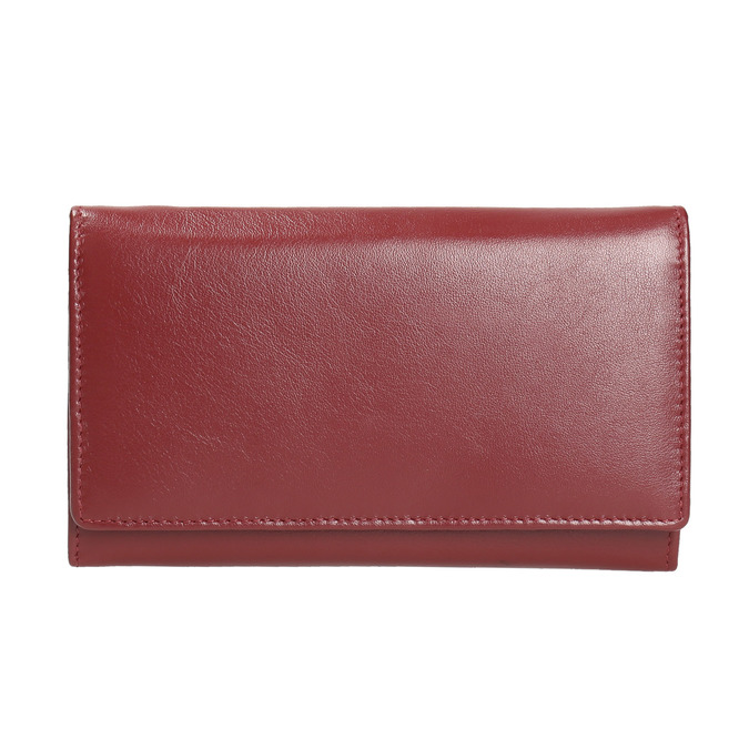 Ladies' leather purse bata, red , 944-5357 - 26