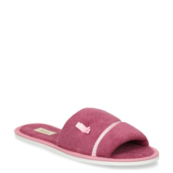 Ladies' slippers with bow bata, pink , 579-5609 - 13