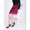 Burgundy pumps with a strap across the instep bata, red , 729-5601 - 15