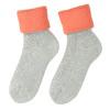 Ladies' thermal socks, gray , orange, 919-5380 - 26