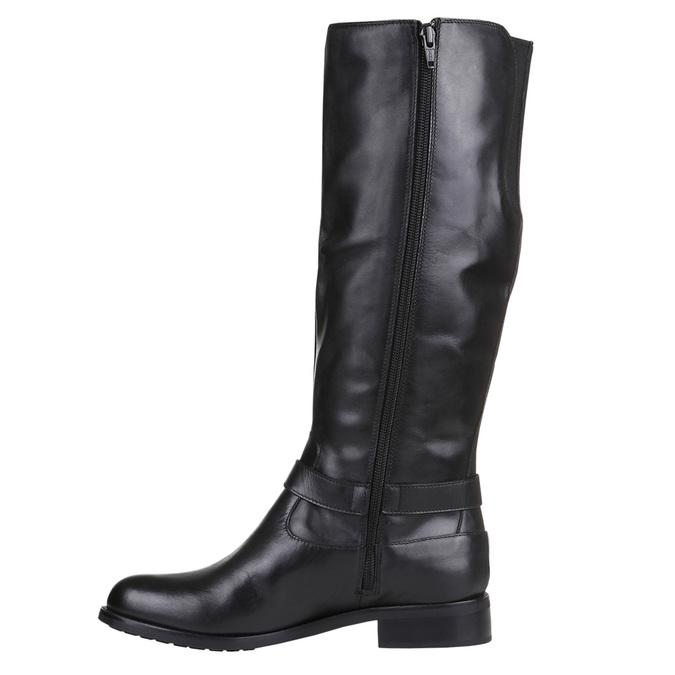 Ladies' ankle sneakers bata, black , 594-6659 - 15