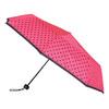 Telescopic umbrella with dots bata, pink , 909-5601 - 13