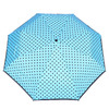 Blue umbrella with dots bata, blue , 909-9601 - 26
