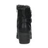 Ankle-cut shoes with fur bata, black , 699-6632 - 17