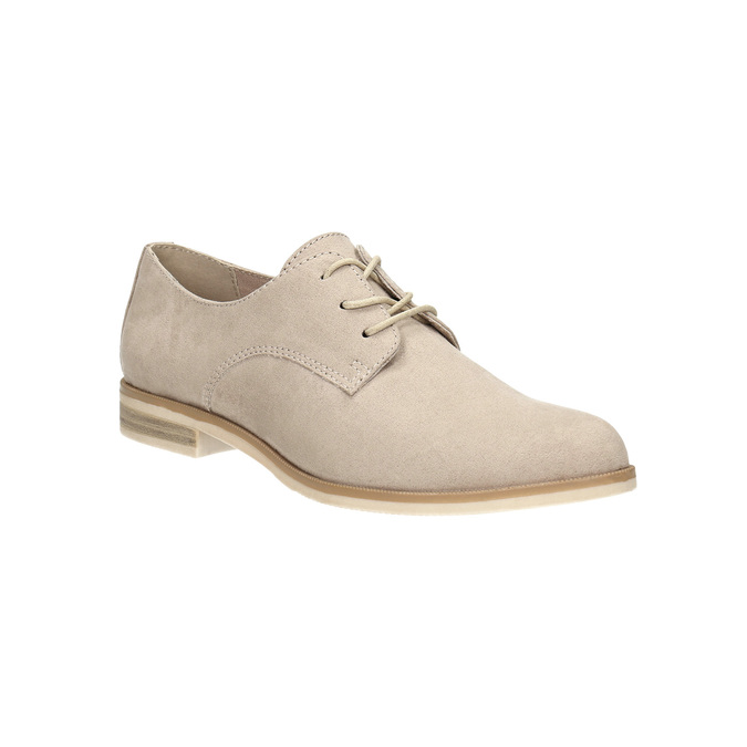 Ladies' Derby shoes bata, beige , 529-8632 - 13