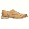 Leather Oxfords with Brogue decorations bata, brown , 524-3482 - 15