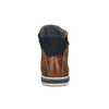 Leather ankle sneakers with zip bata, brown , 844-3632 - 17