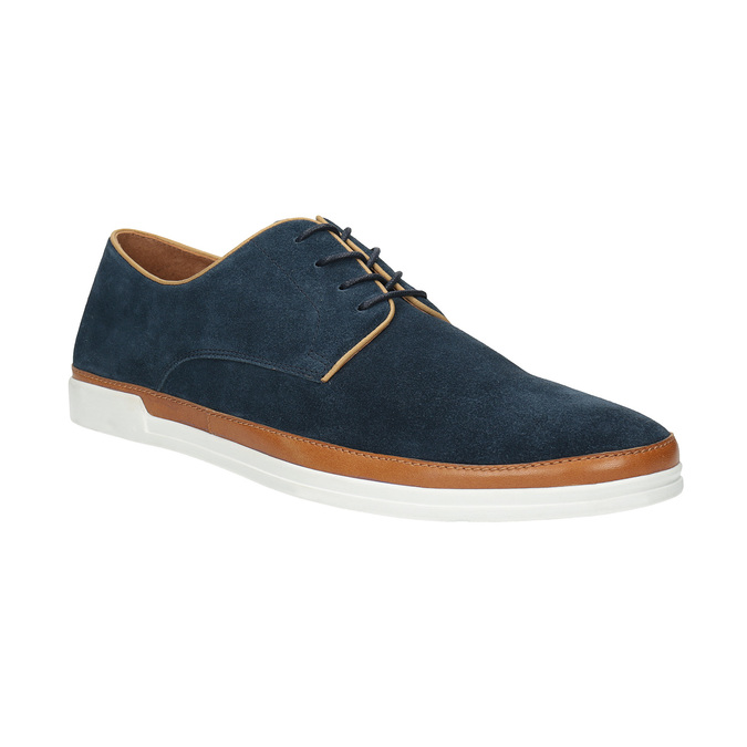 Casual leather shoes bata, blue , 843-9623 - 13