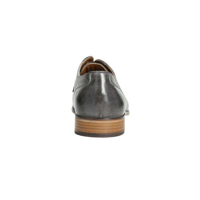 Men's leather Ombré shoes bata, gray , 826-2794 - 17
