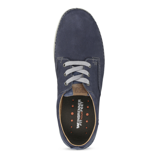 Casual leather shoes, blue , 846-9631 - 17