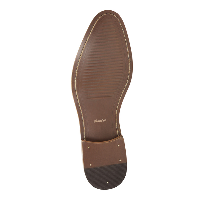 Men's leather Ombré shoes bata, gray , 826-2794 - 26