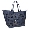 Blue handbag with tassels bata, blue , 961-9274 - 13