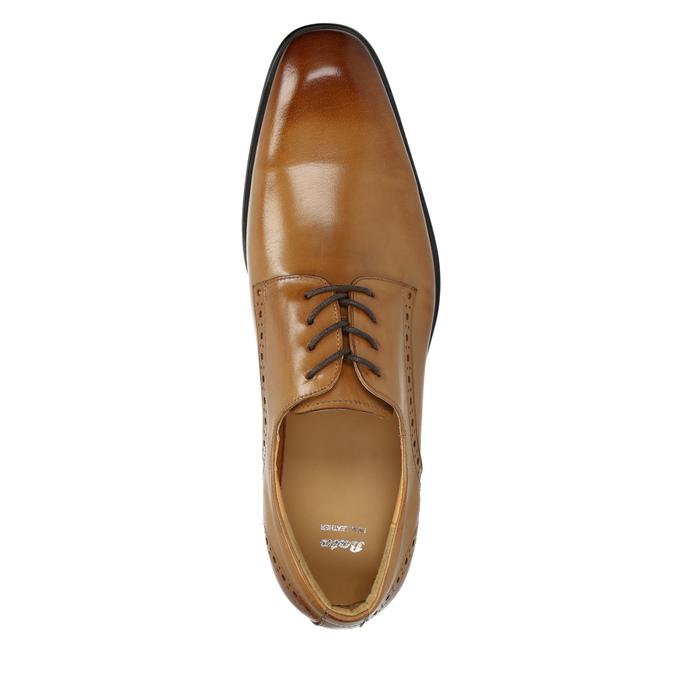 Men's Brogue leather shoes bata, brown , 826-3821 - 19