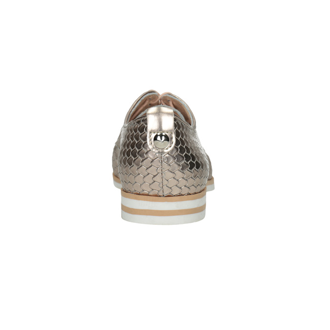 Leather shoes with scale motif bata, gold , 526-8627 - 17