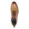 Leather ankle boots with perforations bata, brown , 596-4645 - 19