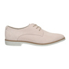 Leather shoes with perforations bata, pink , 523-5600 - 15
