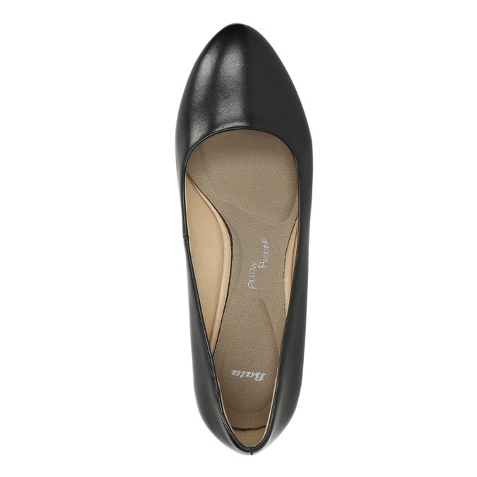 Pumps with a rounded toe pillow-padding, black , 624-6637 - 19