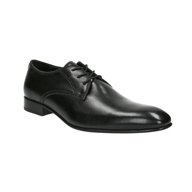 Men's 100% leather  shoes bata, black , 824-6836 - 13