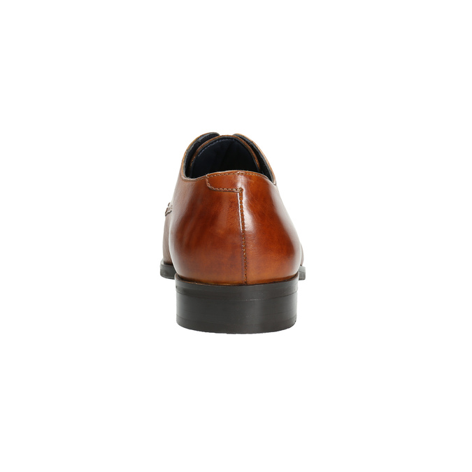 Brown leather Derby shoes bata, brown , 826-3804 - 17