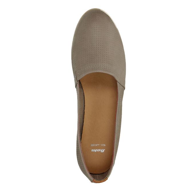 Ladies´ leather Slip-ons bata, brown , 516-2602 - 19
