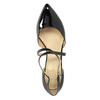 Leather pumps with straps across instep, black , 728-6641 - 19