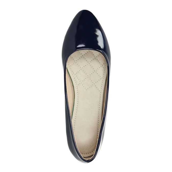 Ladies' patent leather ballerinas bata, 521-2602 - 19