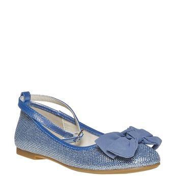 Girls' blue ballet pumps mini-b, blue , 329-9241 - 13
